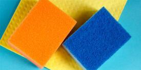 Atención con las esponjas y trapos de cocina