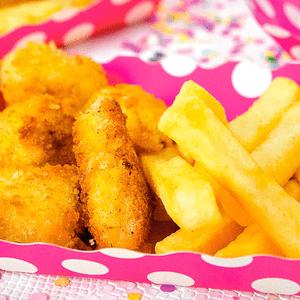Nuggets con papas