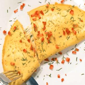 Omelette de espinaca y queso (VIDEO)