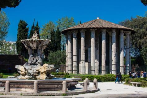 Templo erigido en honor a Hércules olivarius, en Roma: uno de los símbolos de este cultivo milenario.