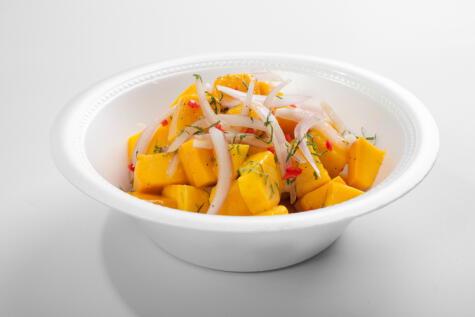 El cebiche de mango combina dos de nuestras pasiones y es un plato de factura reciente en el recetario peruano.