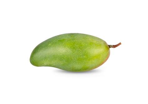 El mango papaya es la variedad más grande y su cáscara es verdosa.