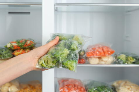 Las verduras cocidas o picadas deben mantenerse refrigeradas o congeladas.
