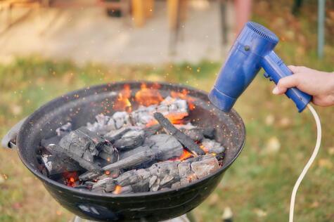 La secadora solo hará que se consuma el carbón antes de tiempo.