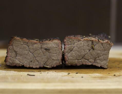 Caso extremo: una carne completamente cocida no es nada agradable.