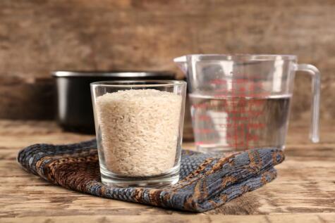 La proporción de agua y arroz es clave para cada técnica que se use.