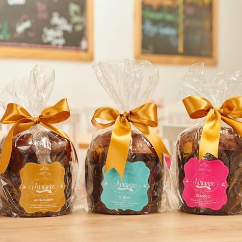 Las tres variedades de panetón que elabora Airampo.