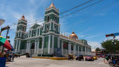 La Iglesia de San Juan Bautista de Catacaos es uno de los escenarios de la la celebración religiosa donde interviene la malarrabia.