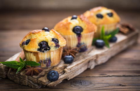 Los muffins de arándanos se han convertido en un clásico.
