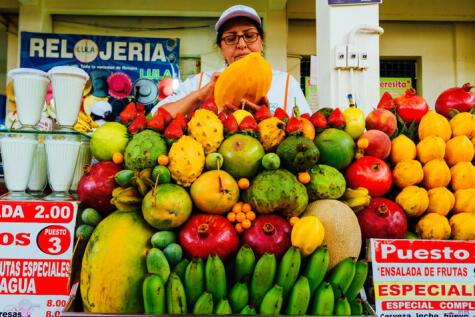 No hay juguera sin papaya. Está en todo el Perú.
