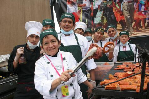 La embajadora de la cocina amazónica en pleno Mistura. (Foto: Archivo La República)
